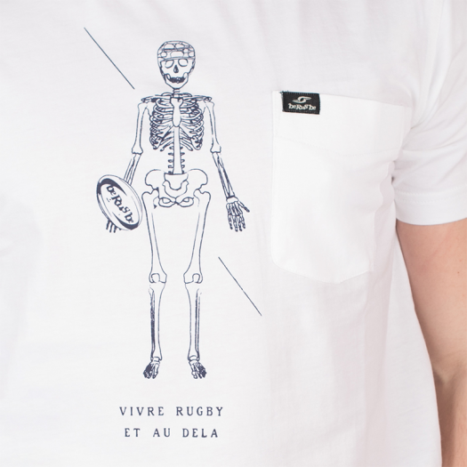 "T. Shirt ""Vivre"" -  MC - Berugbe - Blanc"