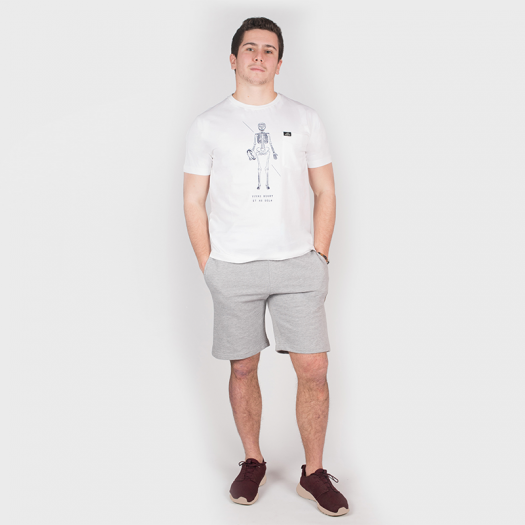 "T. Shirt ""Vivre"" - Manches Courtes - Berugbe - Blanc"