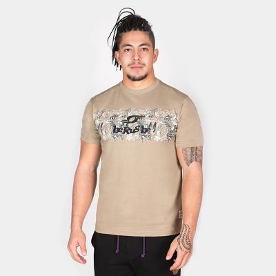 "T. Shirt ""Aloha"" - Manches Courtes - Berugbe - Kaki"