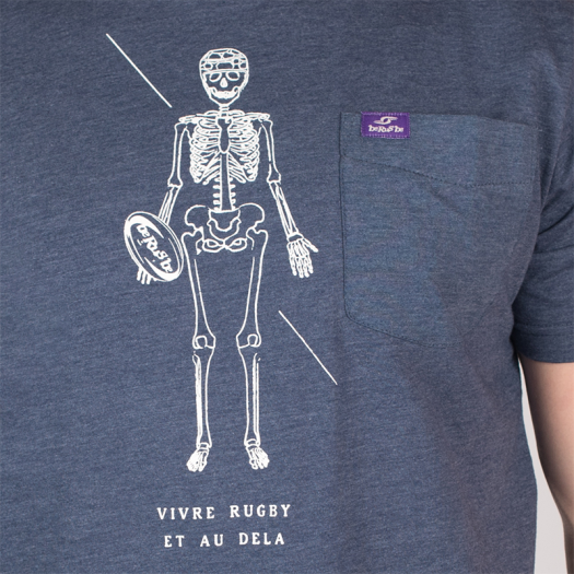 "T. Shirt ""Vivre"" - Manches Courtes - Berugbe - Navy"