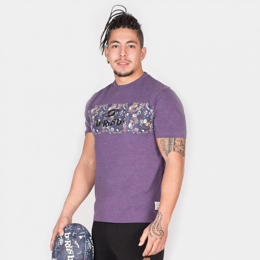 "T. Shirt ""Aloha"" - Manches Courtes - Berugbe - Heather Violet"