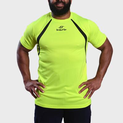 Tshirt d'entrainement - Berugbe - Fluo - Jaune