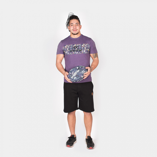 "T. Shirt ""Aloha"" - Manches Courtes - Heather Violet"