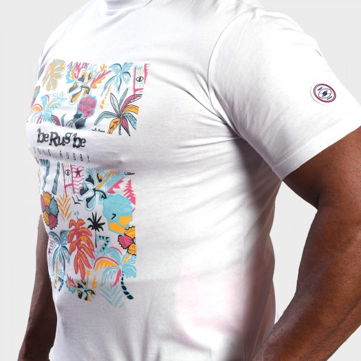Tshirt Summer - Collection InExtenso Supersevens - Blanc