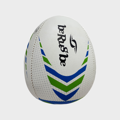 Ballon de Rugby -  Rebond - Berugbe - Bleu/Vert - U