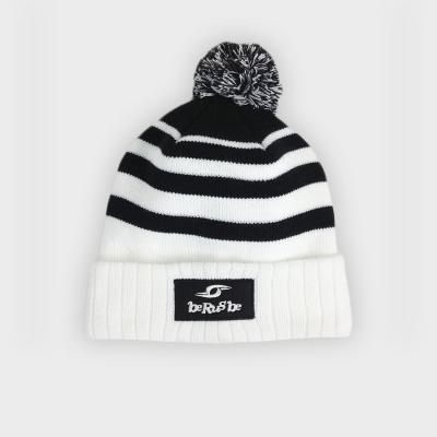 Bonnet Winter - Berugbe - Rayé Noir/Blanc